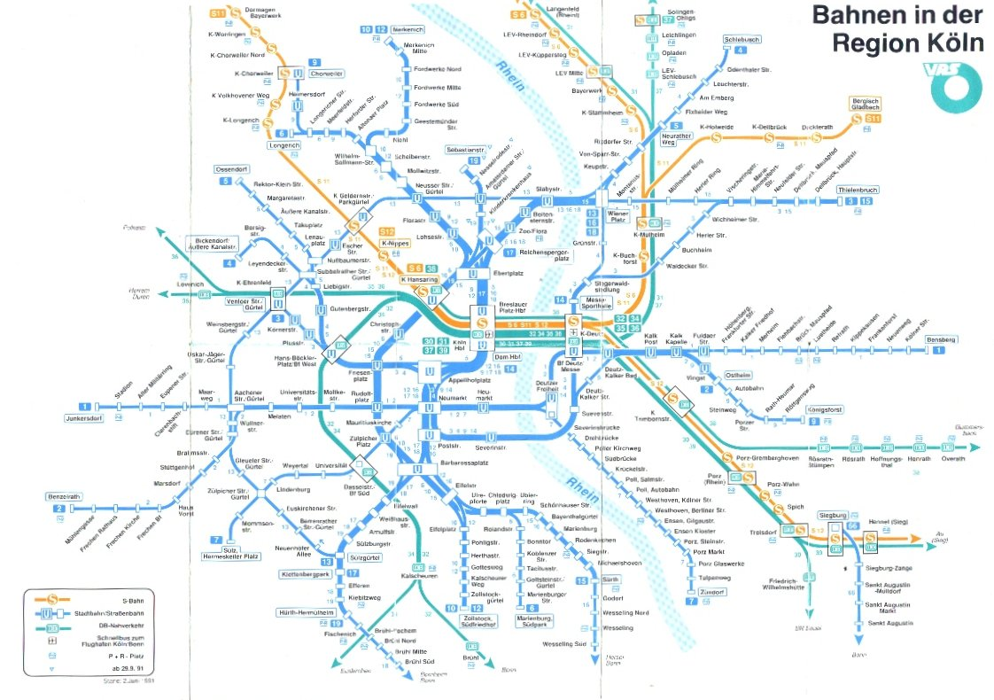 Liniennetz Kvb